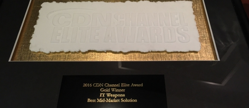 IT Weapons remporte la meilleure solution de mid-market - Gold au CDN Channel Elite Awards