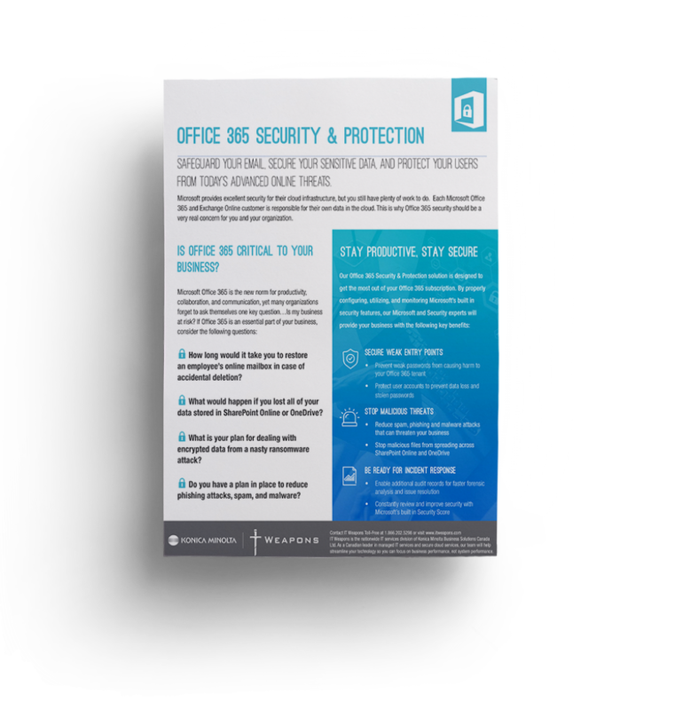 Brochure: <br/> Office 365 Security & Protection