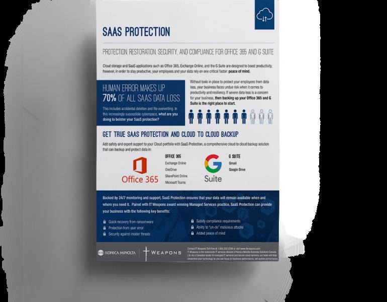 Brochure: <br/> SaaS Protection