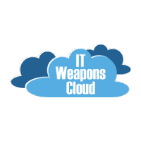 IT Weapons cloud icon.