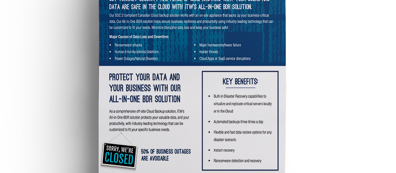 Brochure: <br/> All-In-One Backup & Disaster Recovery