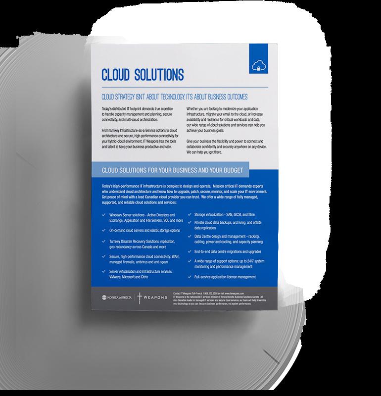 Brochure: Solutions Cloud