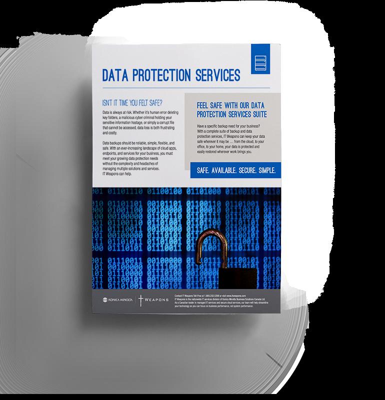 Brochure:  Services de protection des données
