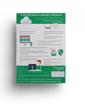 Infographic: <br/> IT System Health and Security Checklist