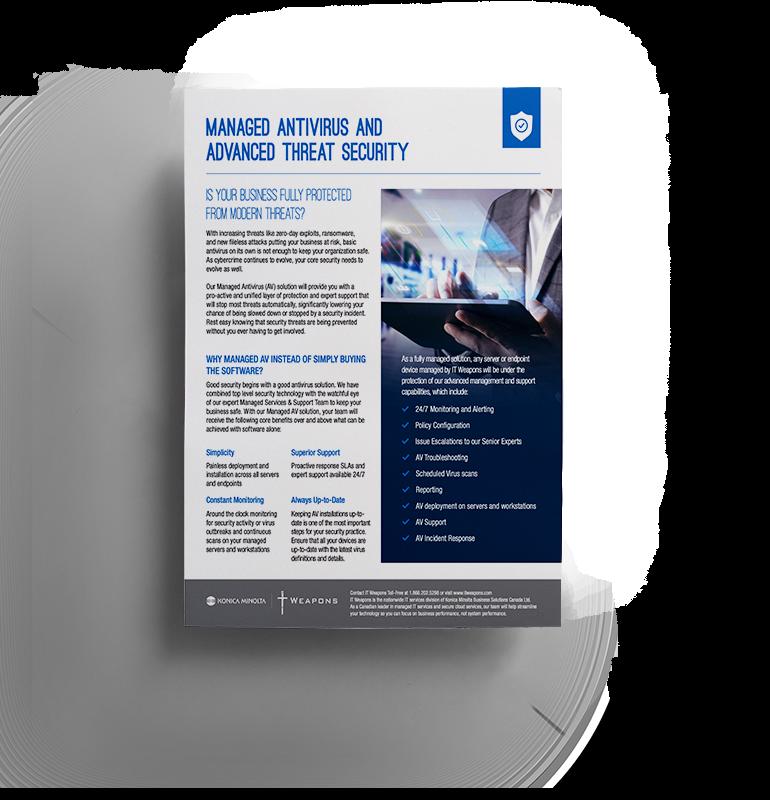 Brochure: Antivirus géré