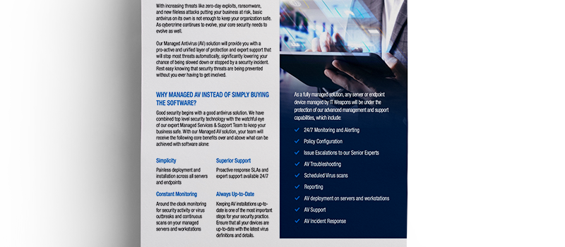 Brochure: <br/> Managed Antivirus