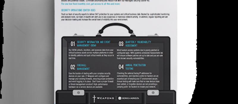 Brochure: <br/> Managed Security Starter Kit